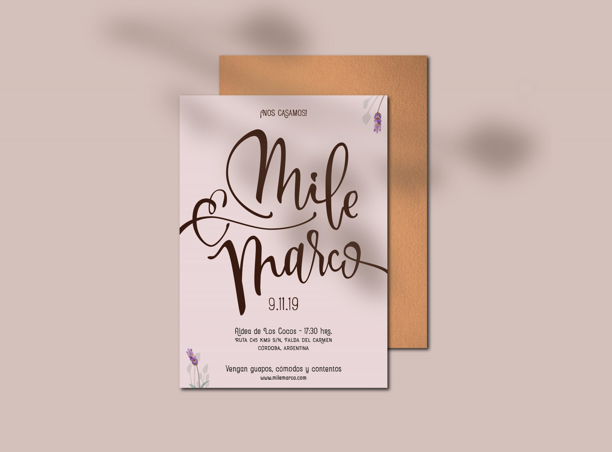 Mile & Marco – card