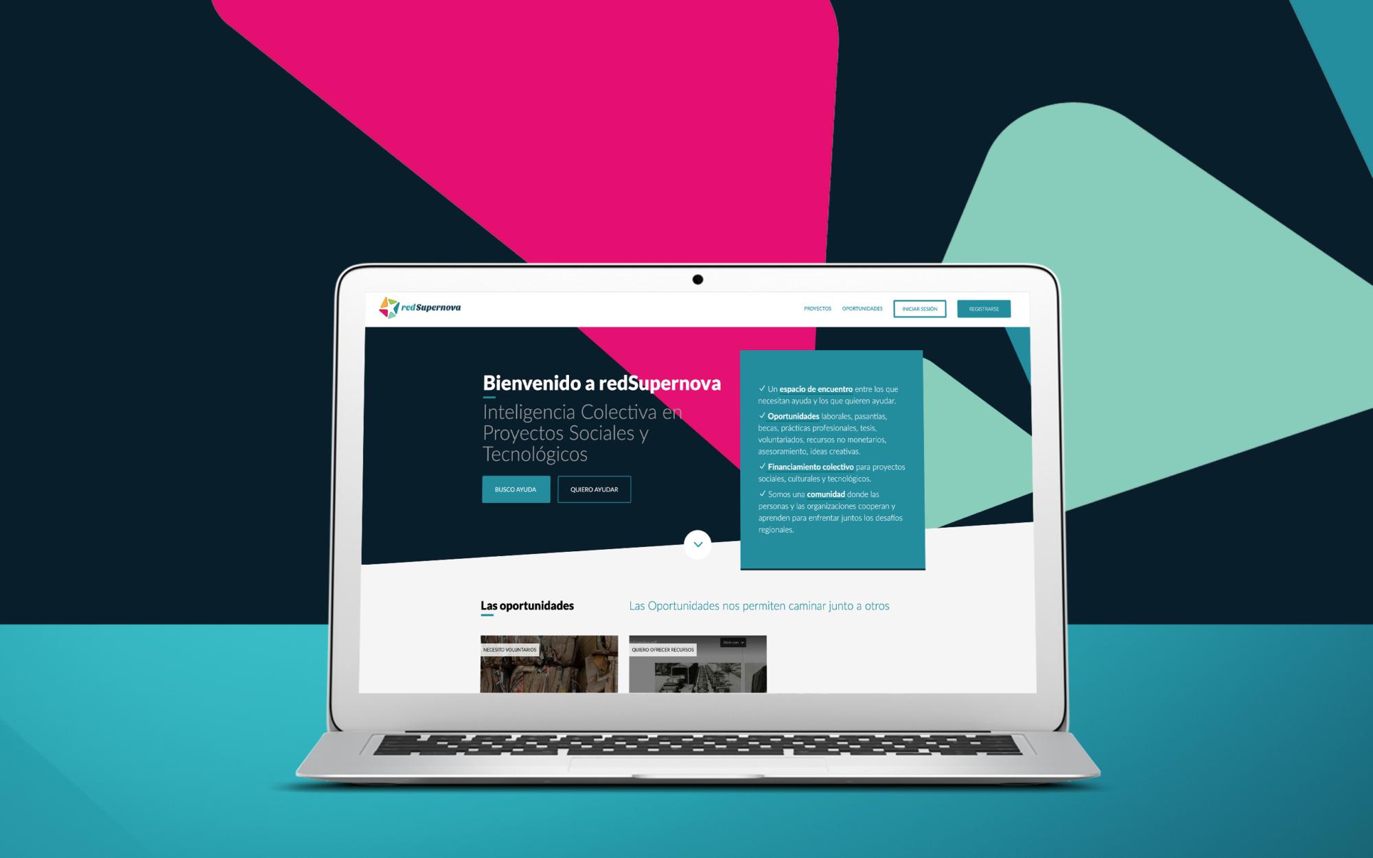 featured redSupernova website